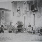 Combaillaux en 1914, place de l'église
