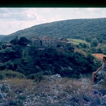 Vue village des Sajolles dans les années 1960